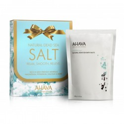 Sare de baie Ahava Kit Natural Dead Sea Bath Salts Bag in a Box, 250gr