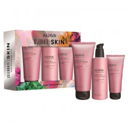 Set cadou crema maini, corp si gel dus Ahava Pink Love Celebration