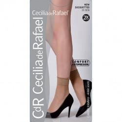 Sosete dres, Cecilia De Rafael, microfibra 20 DEN , pachet 2 perechi.
