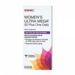 GNC Women`s Ultra Mega 50 Plus One Daily, 60 Tablete