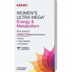 GNC Women`s Ultra Mega Multivitamine pentru Energie si Metabolism, 90 Tablete