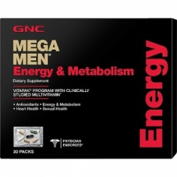 GNC Mega Men Energie si Metabolism-Program Complet Vitapak, 30 Pachetele