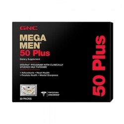 GNC Mega Men 50 Plus Vitapak - Program Complet, 30 Pachetele