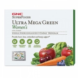 GNC SuperFoods Ultra Mega Green Women`s Program Complet Vitapak, 30 Pachetele