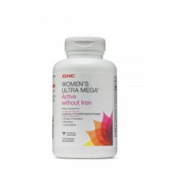 GNC WOMEN'S ULTRA MEGA® ACTIVE FARA FIER, 180 TABLETE