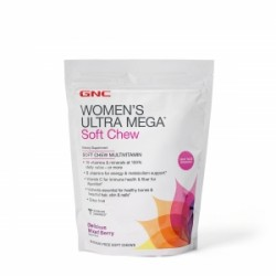 GNC Women's Ultra Mega Soft Chew Multivitamin - Mixed Berry