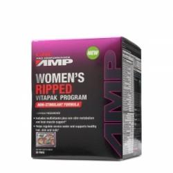 GNC Pro Performance AMP Women's Ripped Vitapak Non-Stimulant, 30 Pachete