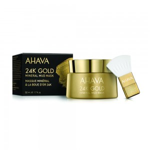 Masca namol pentru ten Ahava 24k Gold Mineral Mud Mask, 50 ml
