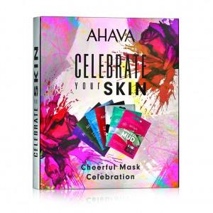 Set cadou 7 masti de fata Ahava Cheerful Mask Celebration