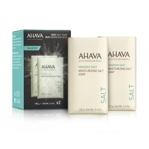 Kit dublu sapun cu saruri Ahava Duo Double Salt Soap, 2x100g