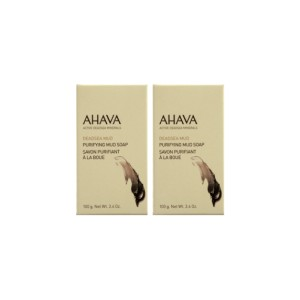 Kit sapun cu namol Ahava Duo Double Mud Soap, 2x100g