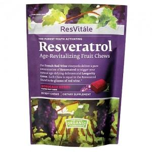 RESVITALE RESVERATROL AGE-REVITALIZING FRUIT CHEWS - WILD BERRY 30 CARAMELE